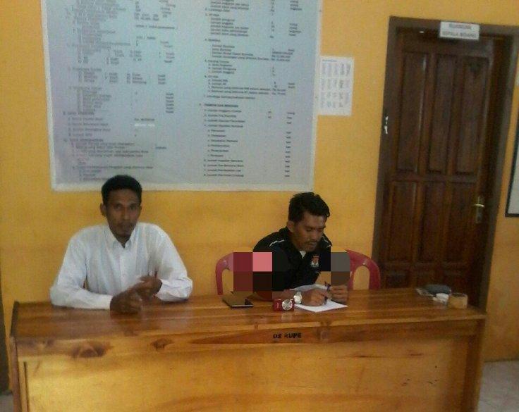 Foto : Sambutan Ikbarrahman, S.Pd Selaku sekretaris Desa /OPSID