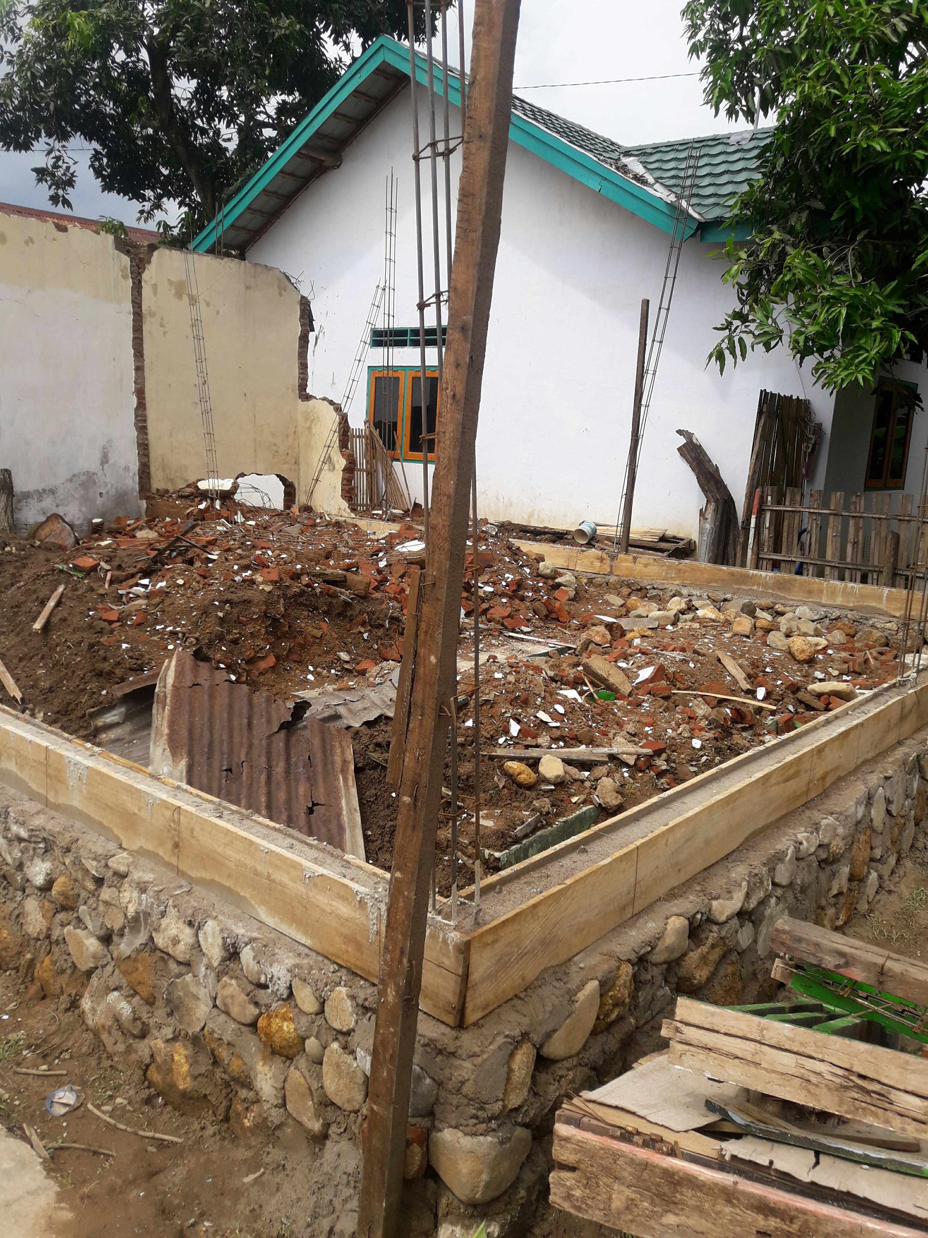 Foto: Pembangunan Gedung BUMDes 25%